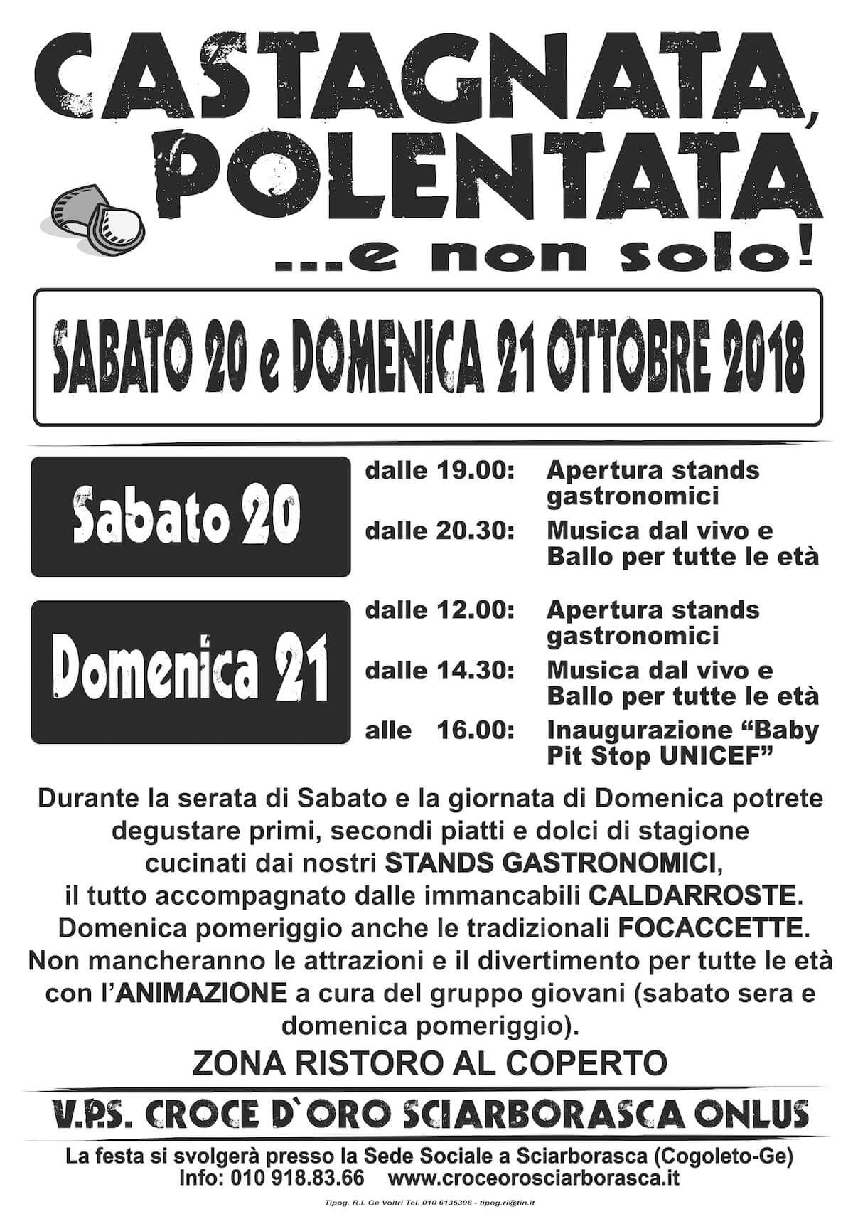 Manifesto Castagnata 2018